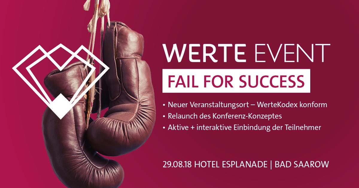 WerteEvent 2018 - FAIL FOR SUCCESS